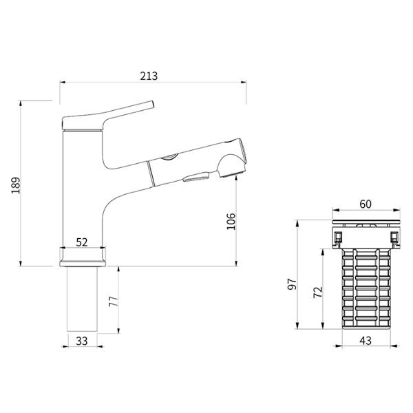 Смеситель для раковины Xiaomi Extracting Faucet