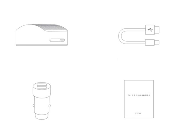 Очиститель воздуха для автомобиля Xiaomi 70mai Car Air Purifier