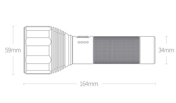 Фонарик Xiaomi NexTool Outdoor Glare Flashlight Black 2000 Lm