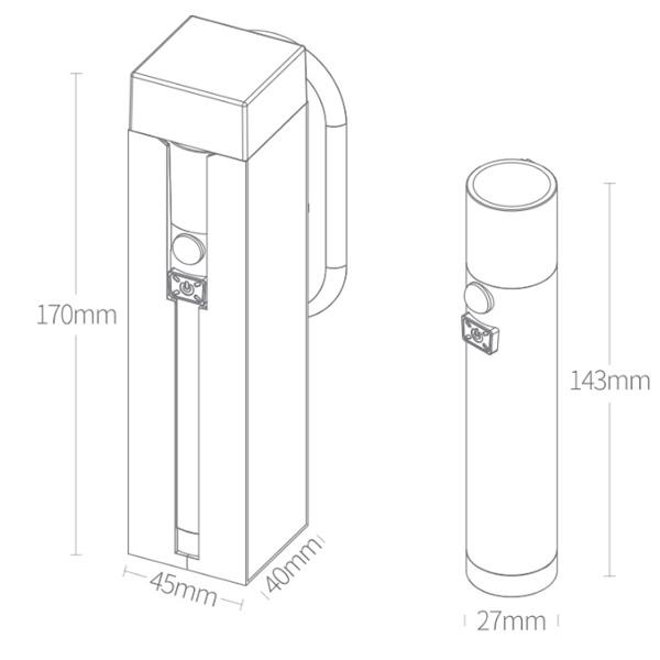 Многофункциональный фонарик Xiaomi NexTool Multi-function Induction Flashlight