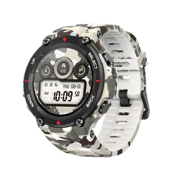 Умные часы Huami Amazfit T-Rex Новые часы Amazfit созданы для туризма по армейским стандартам качества. Вобрали в себя все самое лучшее от смарт часов: прочный и лёгкий премиальный материал корпуса, непрерывный контроль пульса, NFC, GPS, Bluetooth и долгий срок работы до 66 дней. Яркий AMOLED циферблат и мощный аккумулятор делают смарт-часы такими невероятно удобными в использовании.
