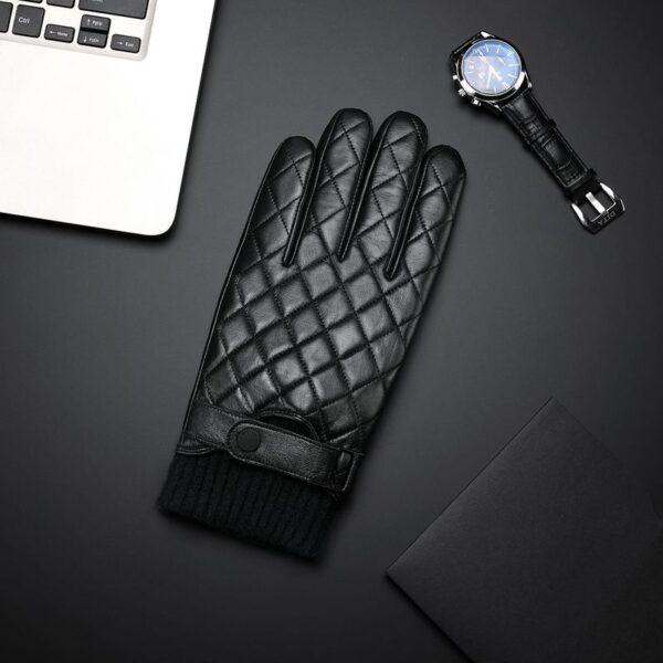 Кожаные перчатки Xiaomi Qimian Seven-Sided Full Touch Screen Sheepskin Gloves